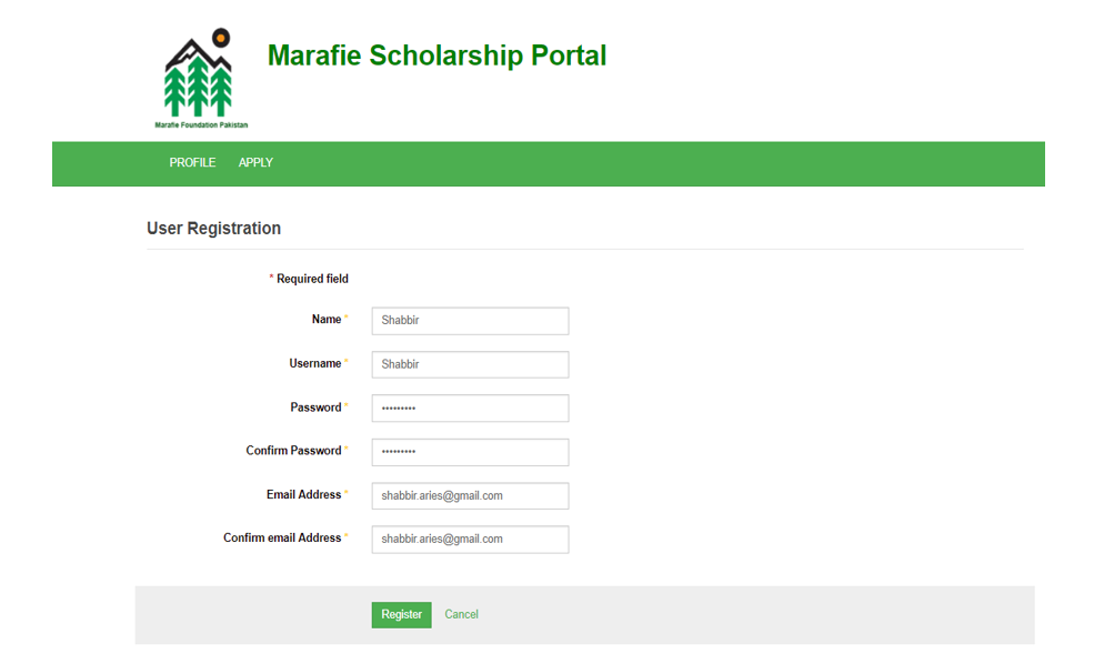 Marafie Foundation Pakistan • How to Apply (User Guide)